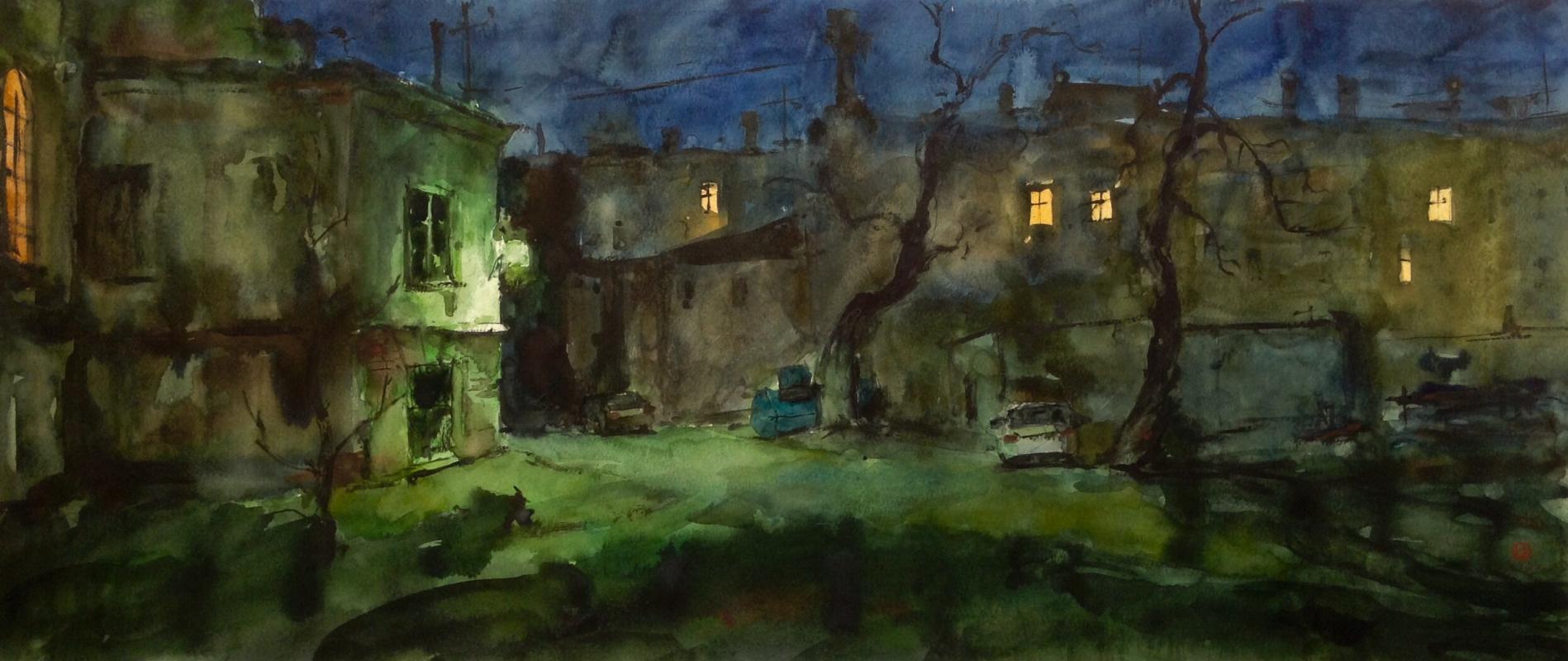 Alexander Groznov. Night yard.