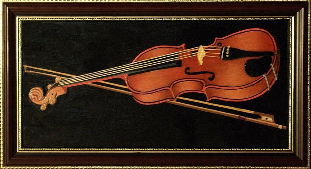 Victor Petrovich Burmin. Etude with violin # 5.