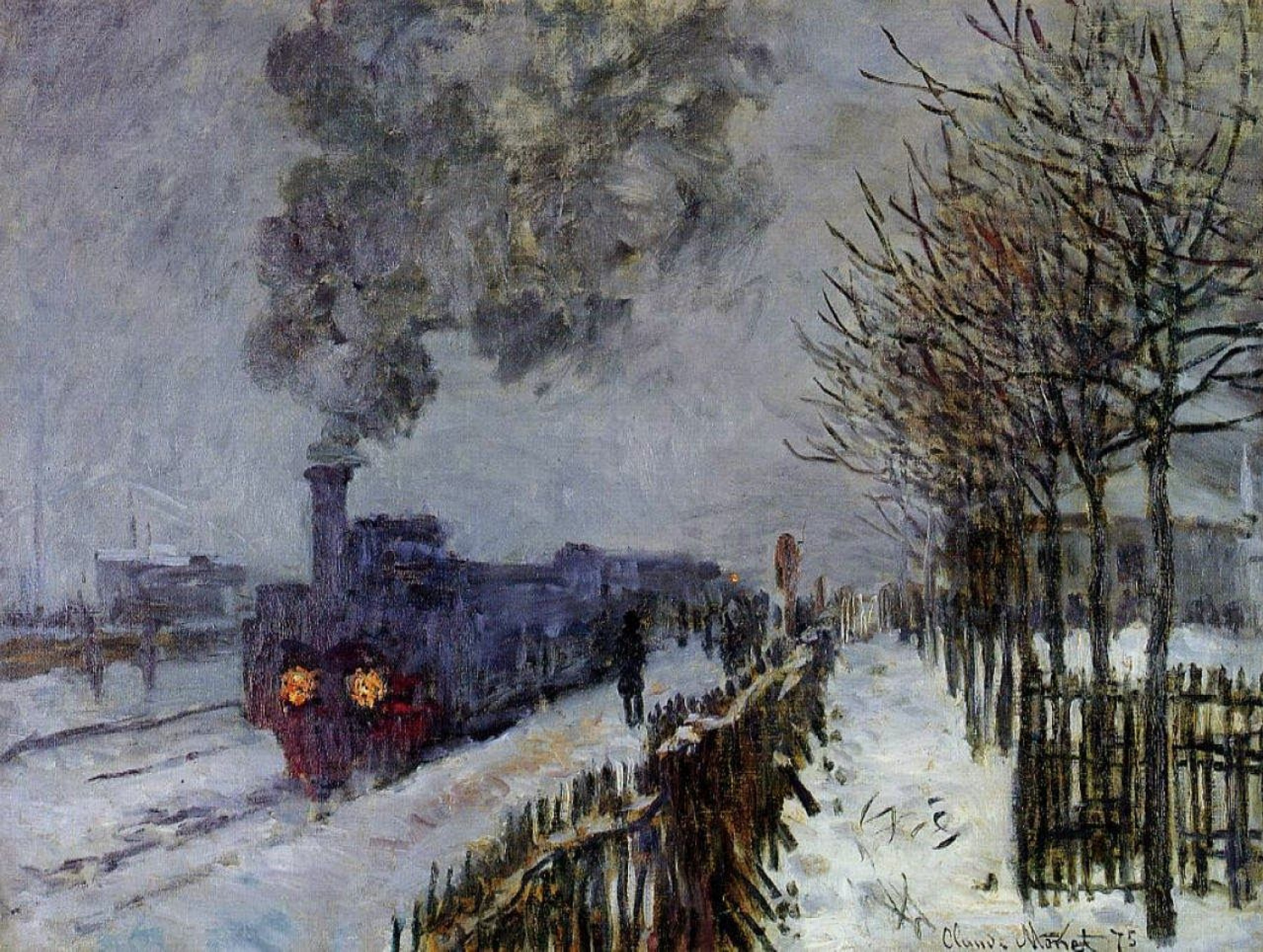 Клод Моне. Поезд в снегу (Локомотив)
