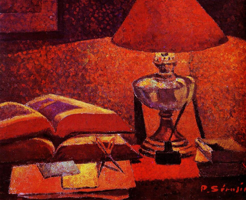 Paul Sérusier. Under the lamp