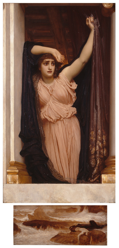 Frederic Leighton. The last hour of the hero