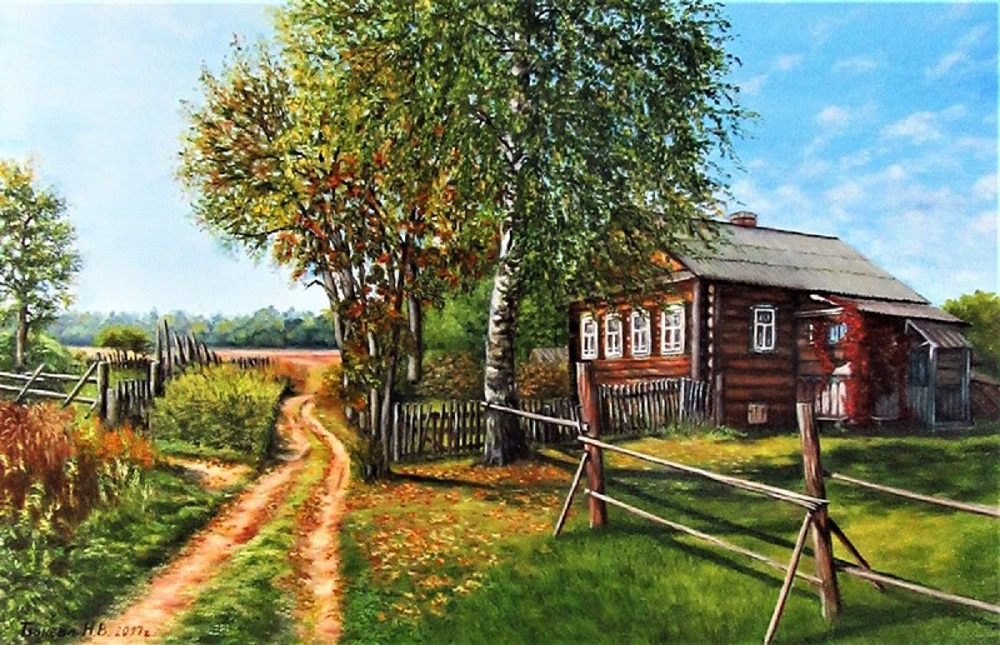 Natalia Viktorovna Tyuneva. House in the village