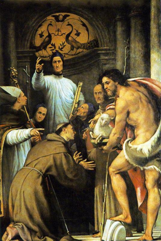 Джованни Антонио Порденоне. Св. Лоренцо Джустиниани и другие святые