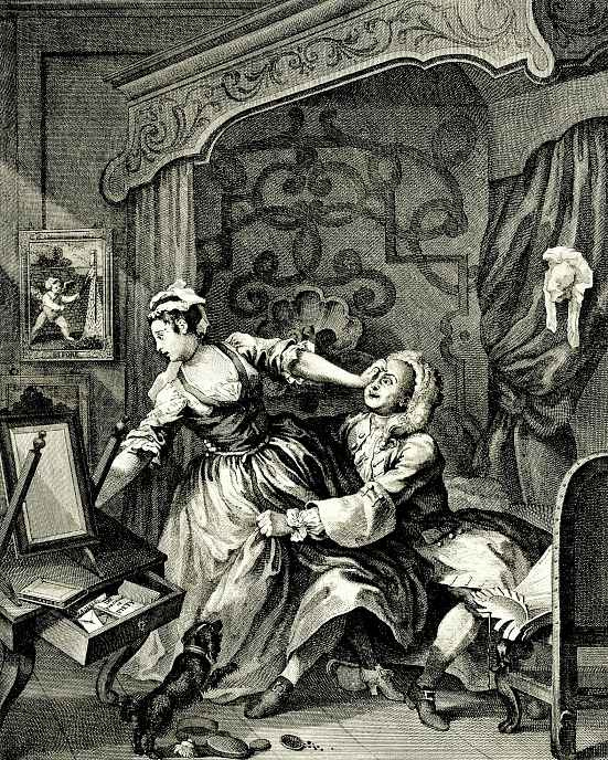 """William Hogarth. A series of """"Before and after"""" To"""