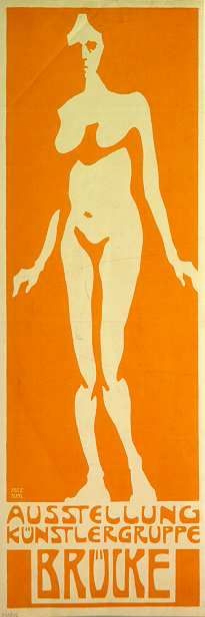 """Fritz Bleuil. The poster for the first exhibition of the artistic Association """"the Bridge"""""""
