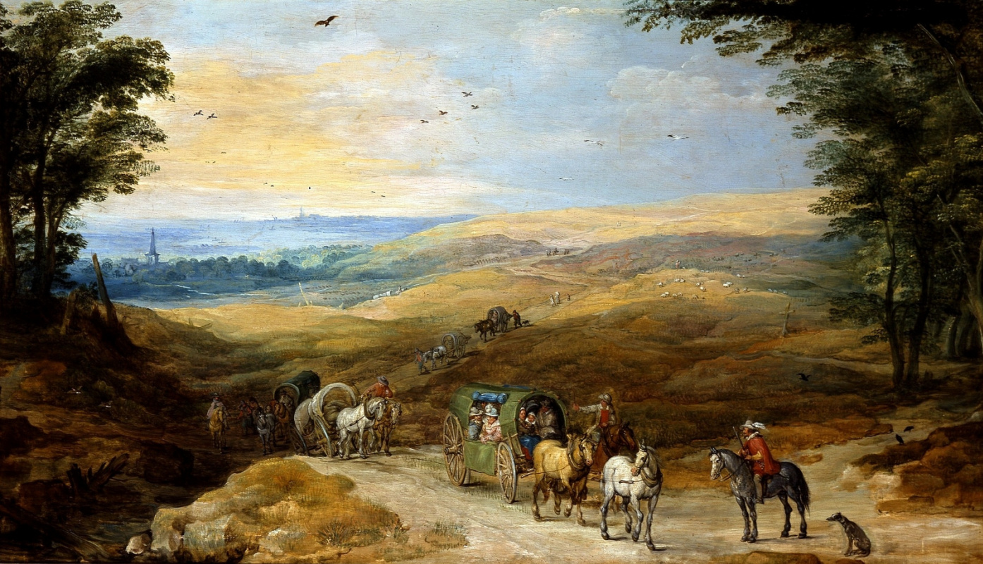 Jan Bruegel The Elder. Landscape with travelers. (joint with Jos de Momper Jl)