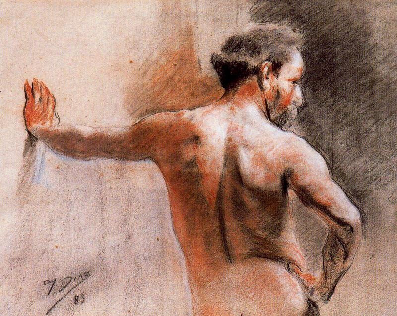 Salvador Díaz Ignacio Ruiz de Olano. In the Studio of the Academy