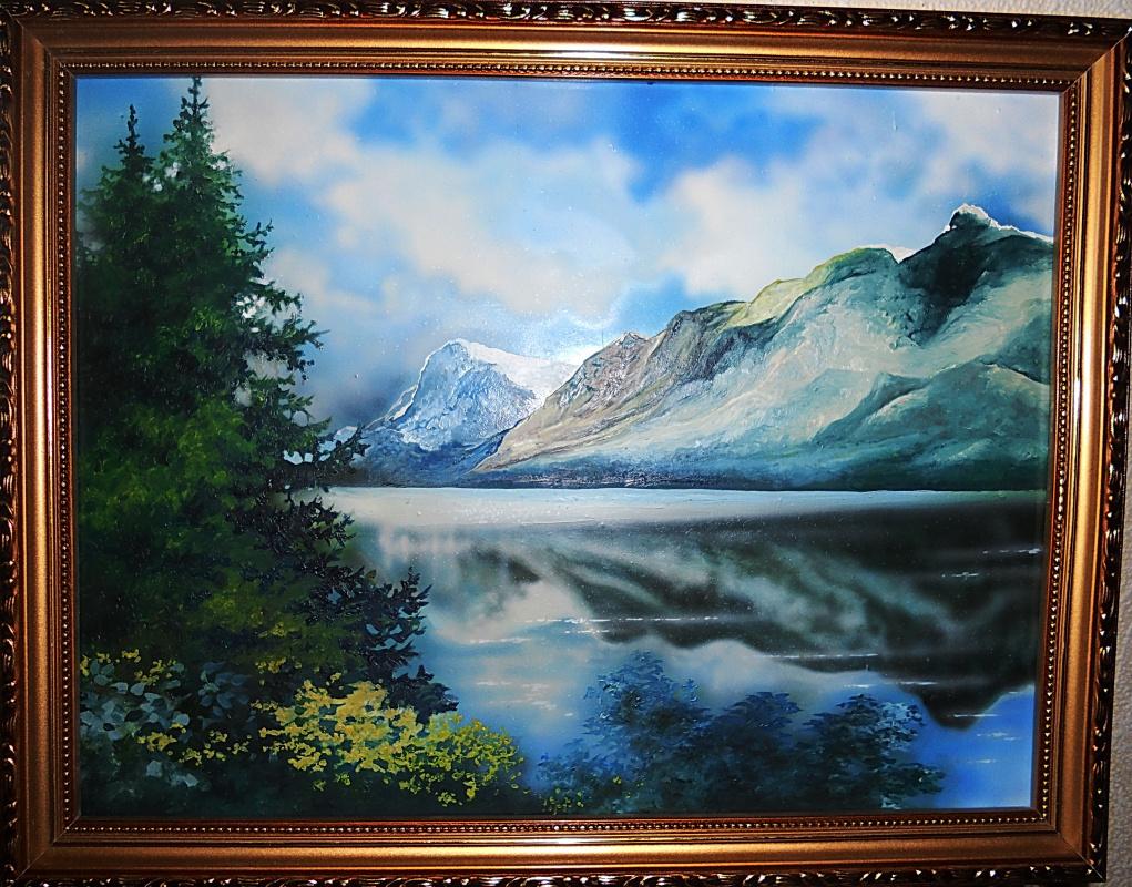 Victor Mikhailovich Ershov. Lake at the foot