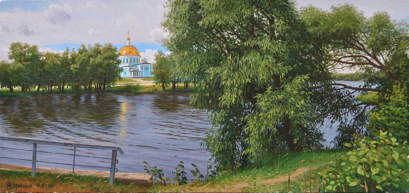 Alexander Vasilyevich Zoryukov. Rakita by the water. Lower lake