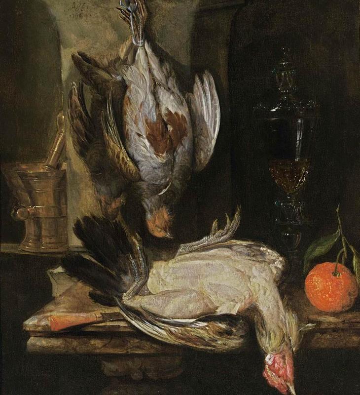 Абрахам Ван Беуерен. Натюрморт с тушками птицы