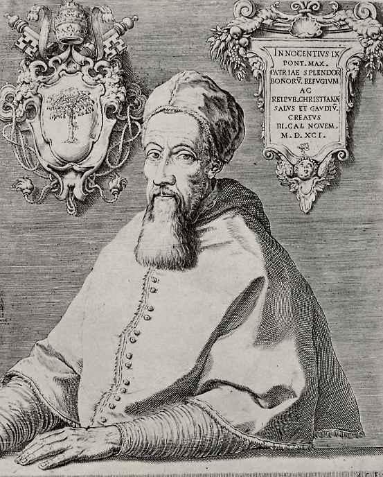 Агостино Карраччи. Портрет папы Иннокентия IX
