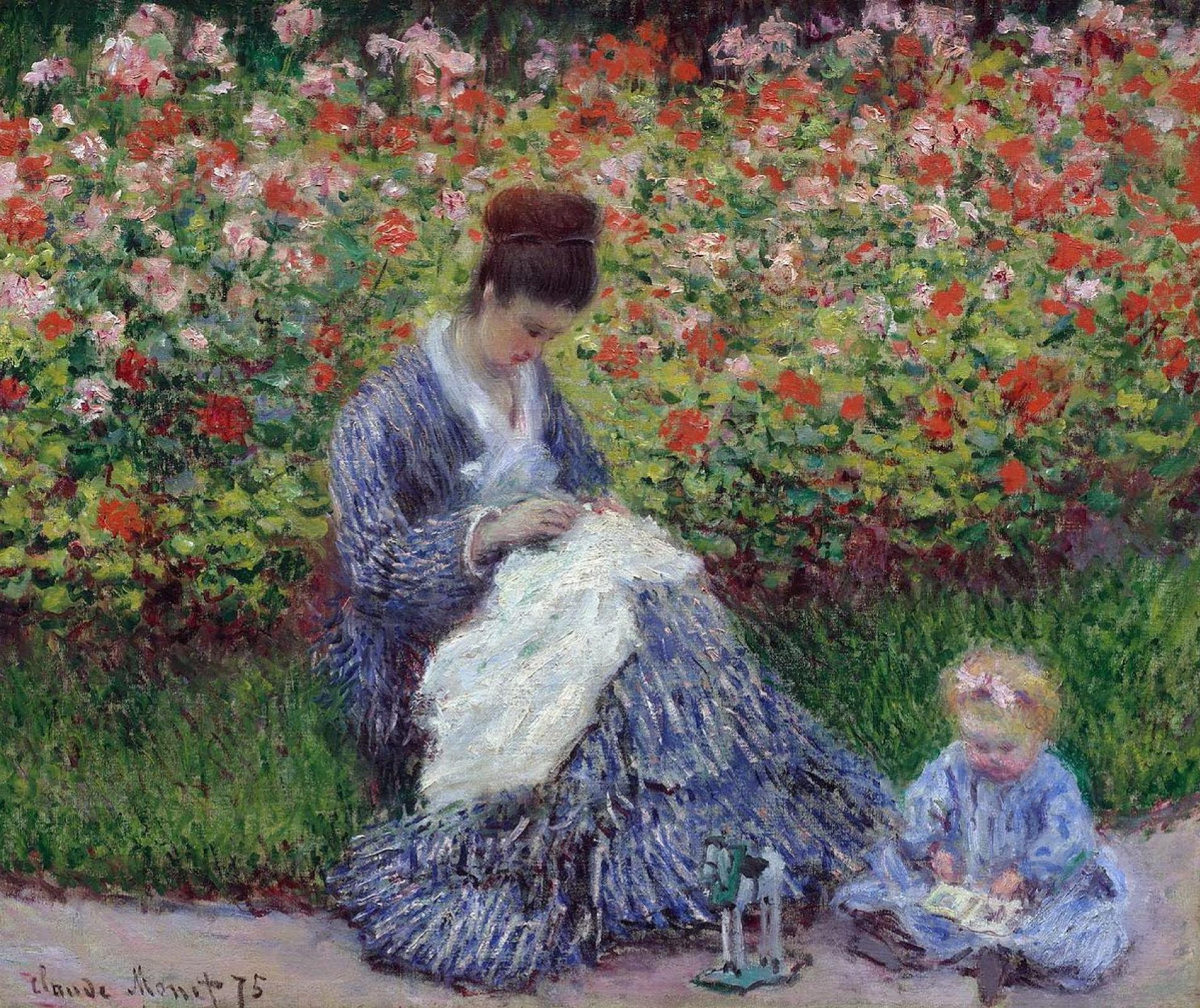 Клод Моне. Камилла Моне с ребенком