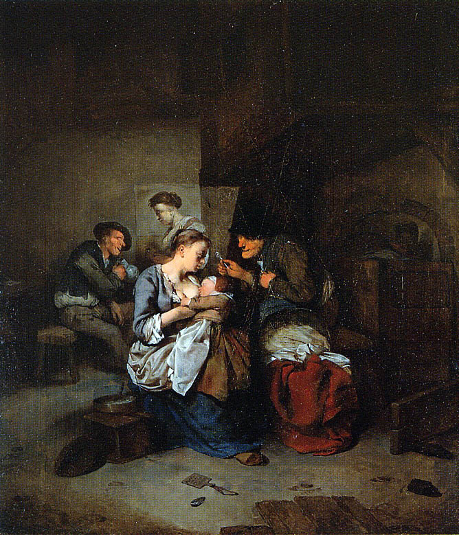 Корнелис Бега. Молодая мать