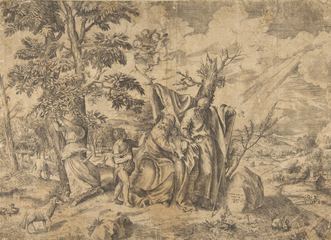 Titian Vecelli. The Rest on the Flight into Egypt