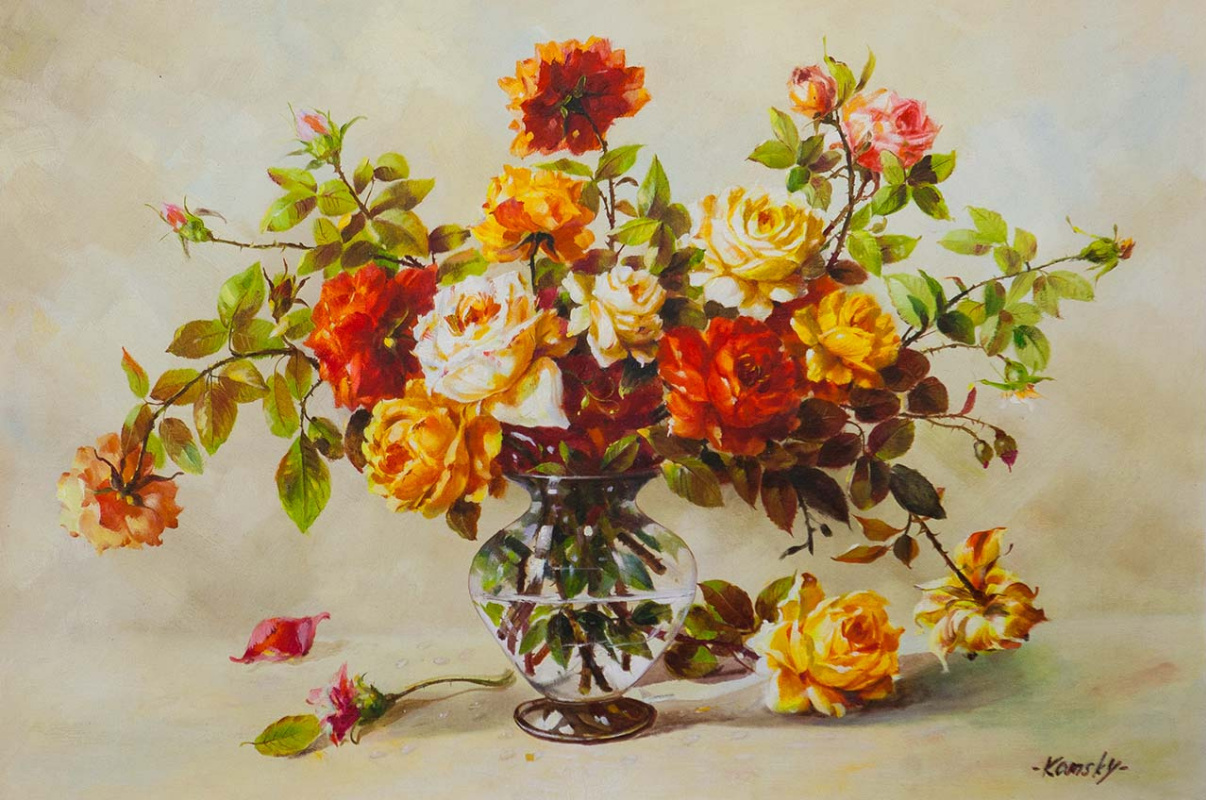 Savely Kamsky. Roses. Decorative
