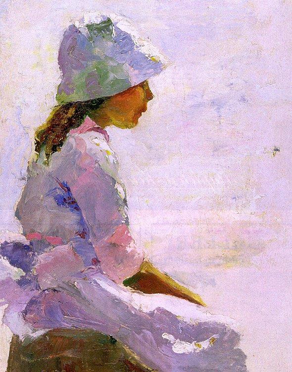 Чарльз Хоторн. Девочка в белой шляпе