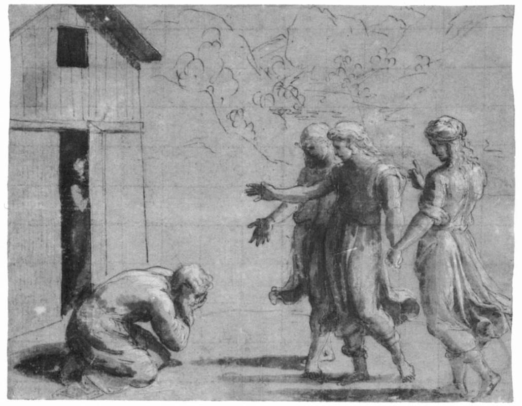 Джованни Франческо Пенни. Три ангела перед Авраамом