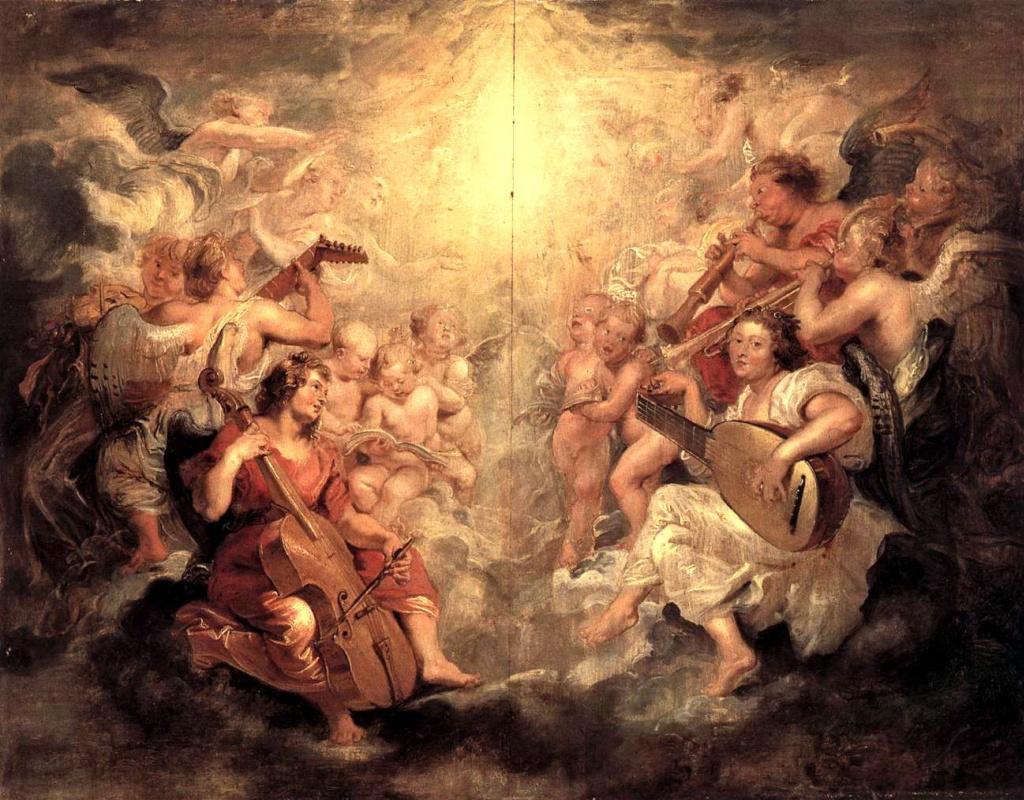 Питер Пауль Рубенс. Музыцирующие ангелы