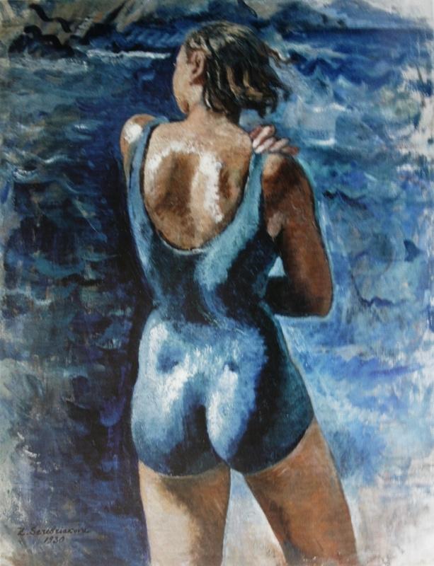 Зинаида Евгеньевна Серебрякова. Катя на пляже