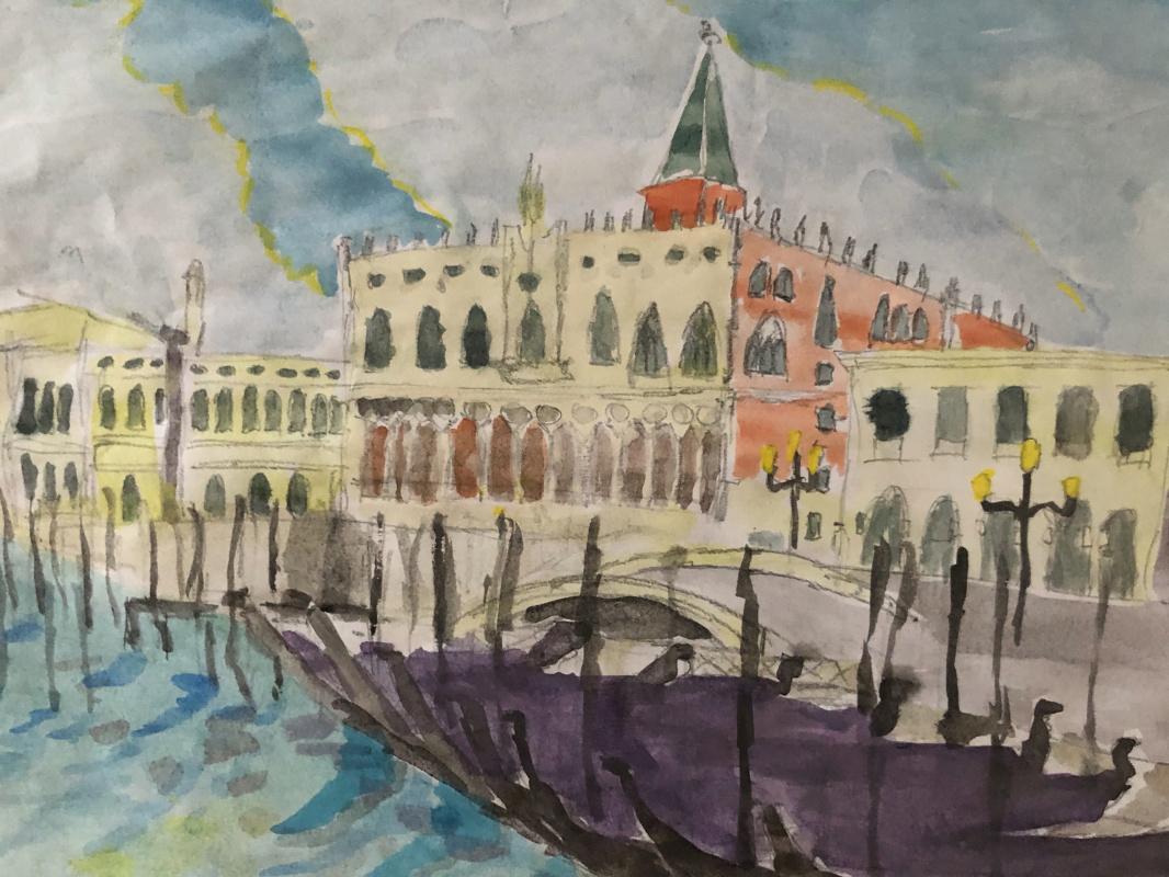 Sergey Vladimirovich Sebini. Dawn in Venice. Promenade San Marco.