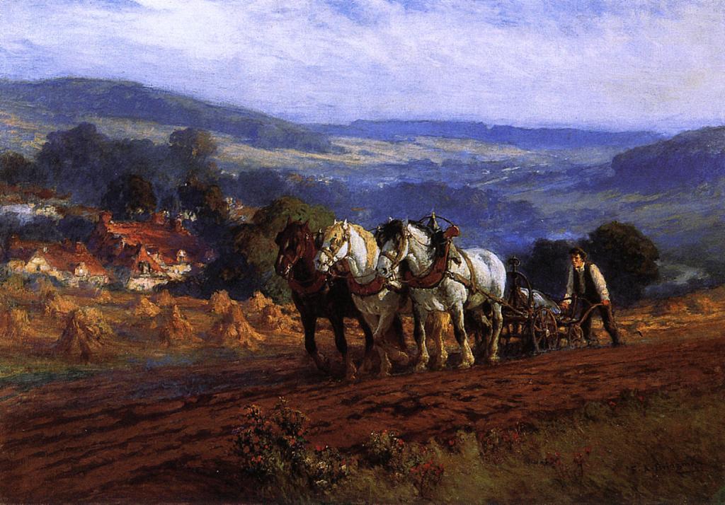Frederick Arthur Bridgman. Plowman