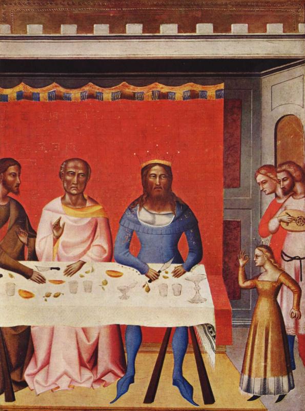 Джованни дель Бьондо. Иоанн Креститель и сцены из его жизни. Фрагмент