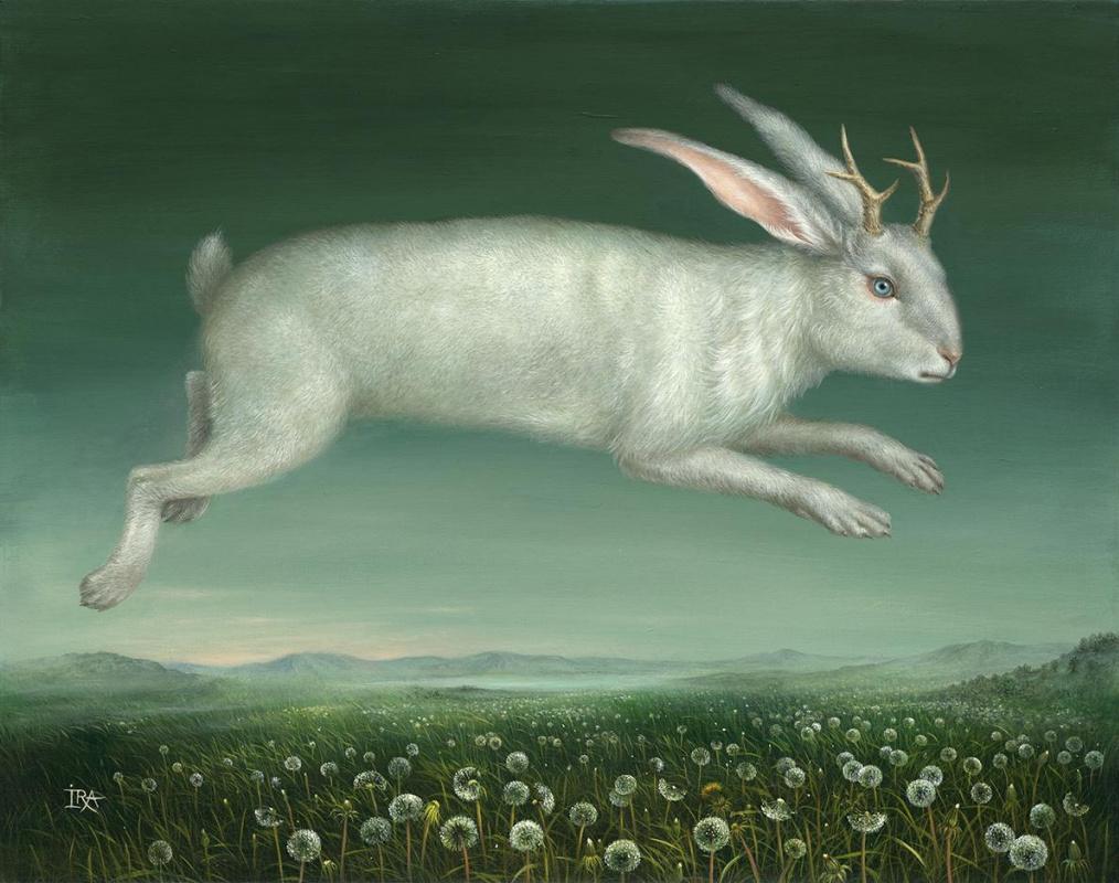 Irena Aizen. Flying Jackalope. Fine Art Prints