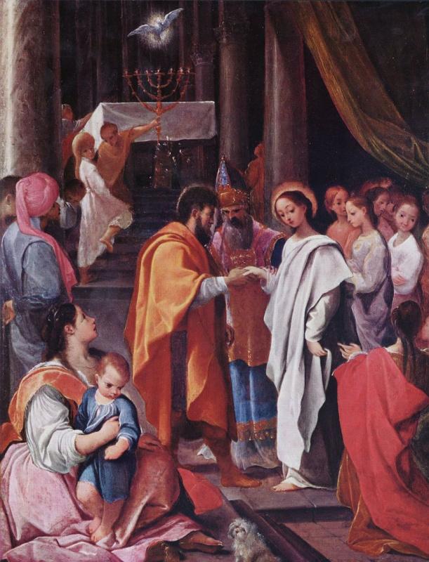 Лодовико Карраччи. Обручение Марии