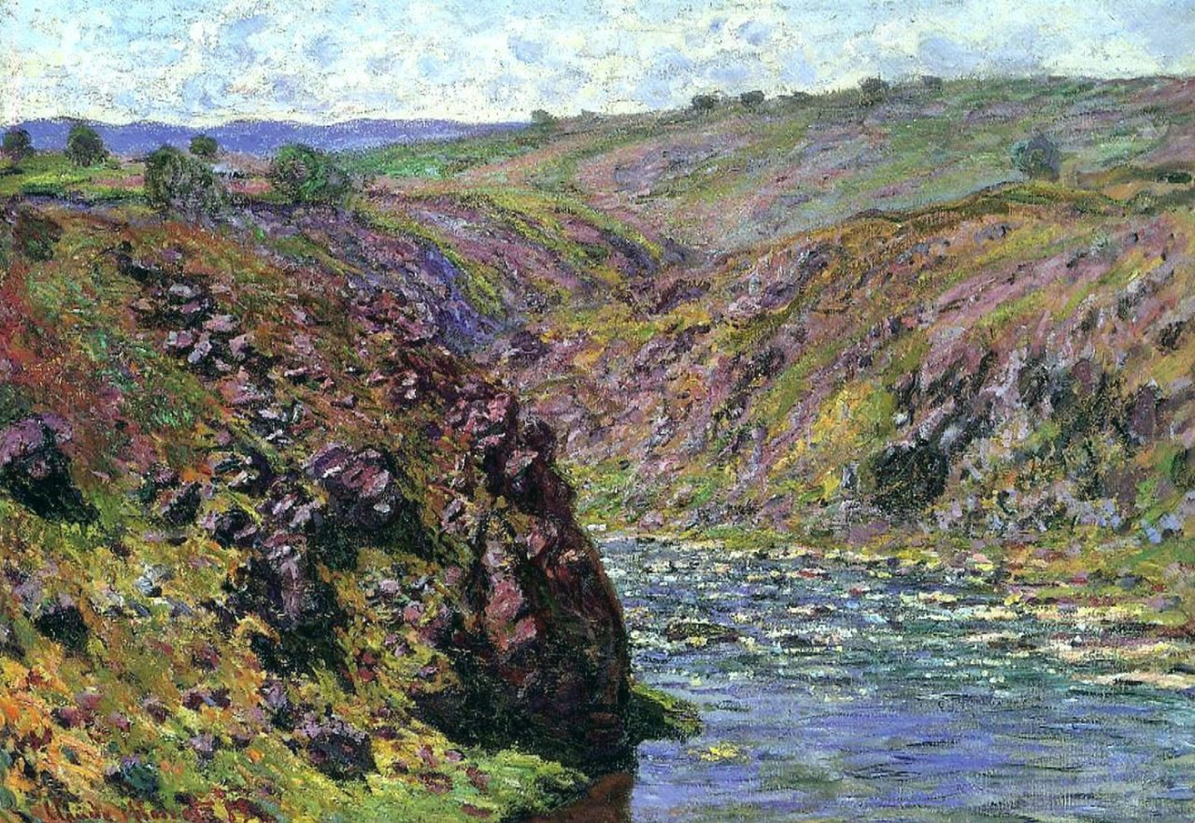 Claude Monet. Valley of the Creuse, sunlight effect