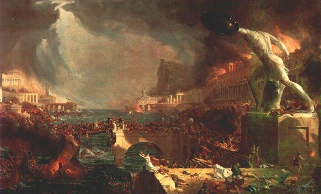 Thomas Cole. The destruction of the Empire