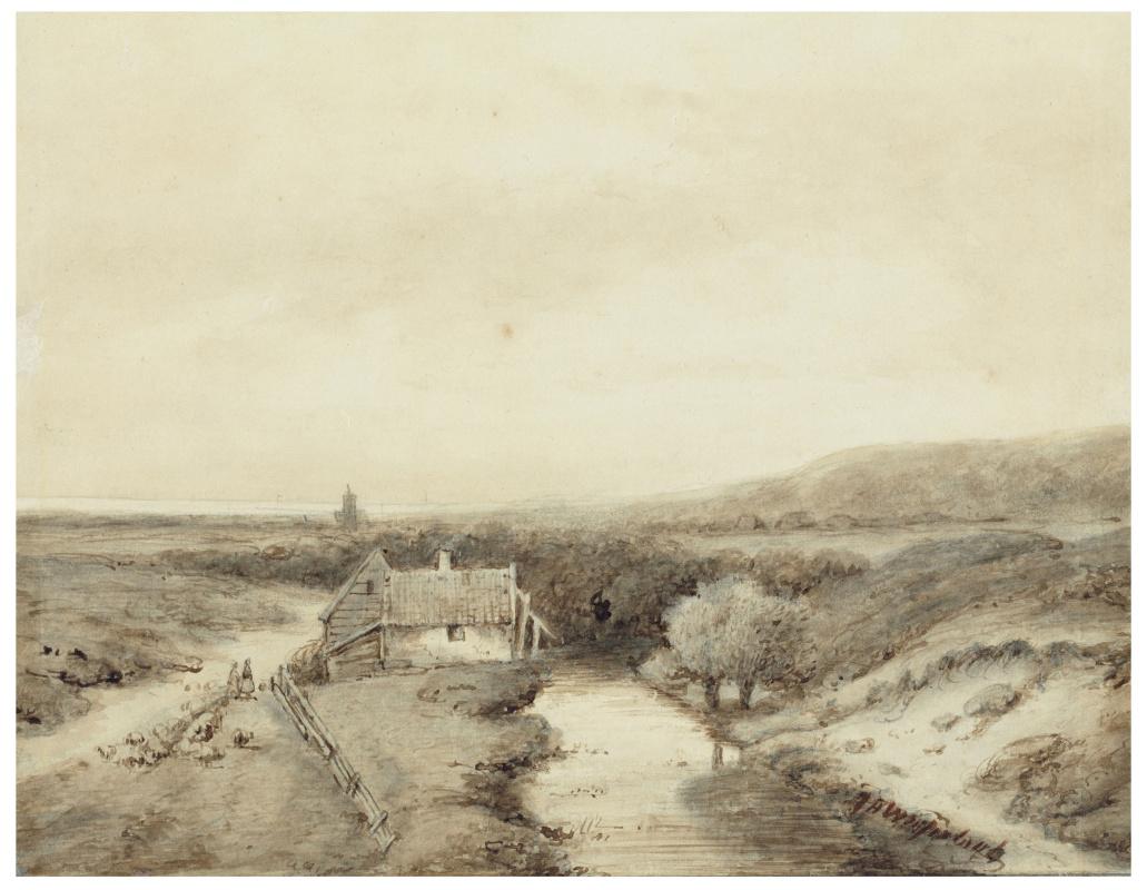 Иохан Хендрик Вейсенбрух. Панорамный вид дюнного пейзажа