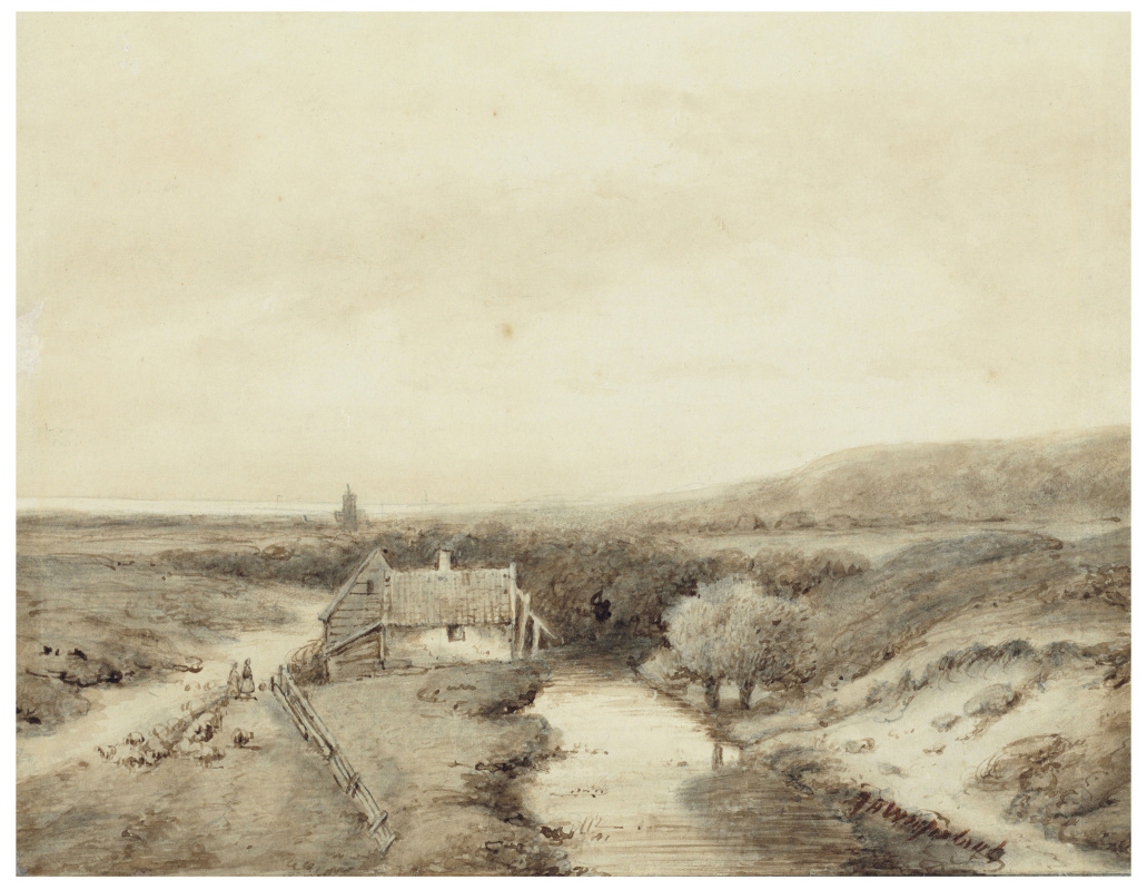 Johan Hendrik Weisenbruch. Panoramic view of a dune landscape