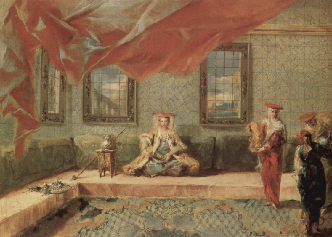Джованни Антонио Гварди. Сцена в гареме