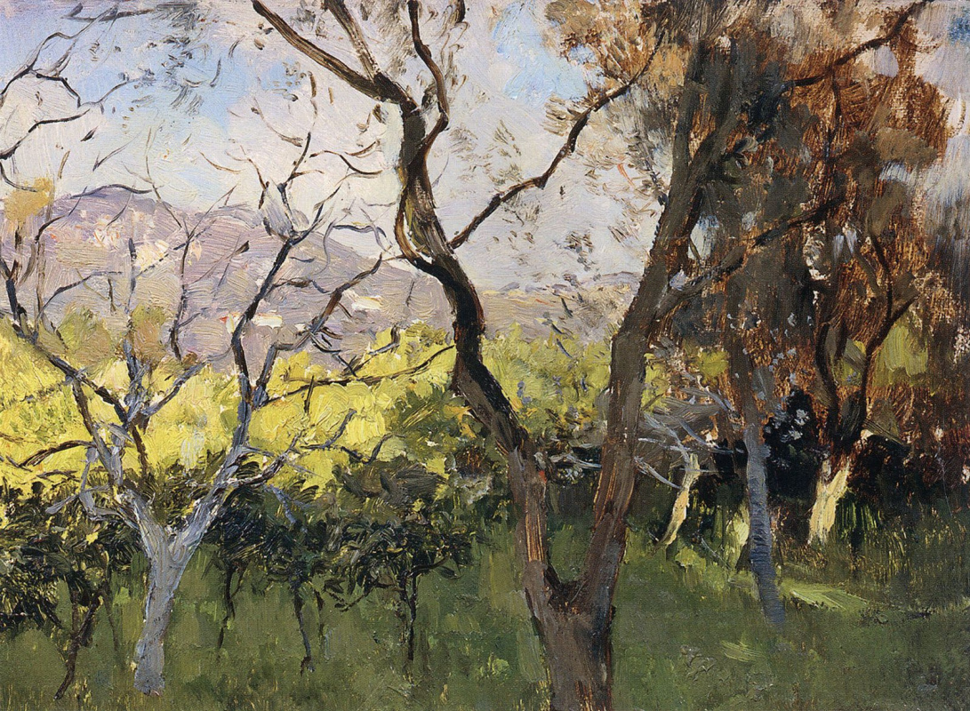 Isaac Levitan. Spring in the Crimea. Etude
