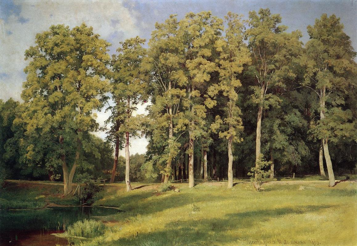 Ivan Shishkin. Grove by the pond. Transfiguration