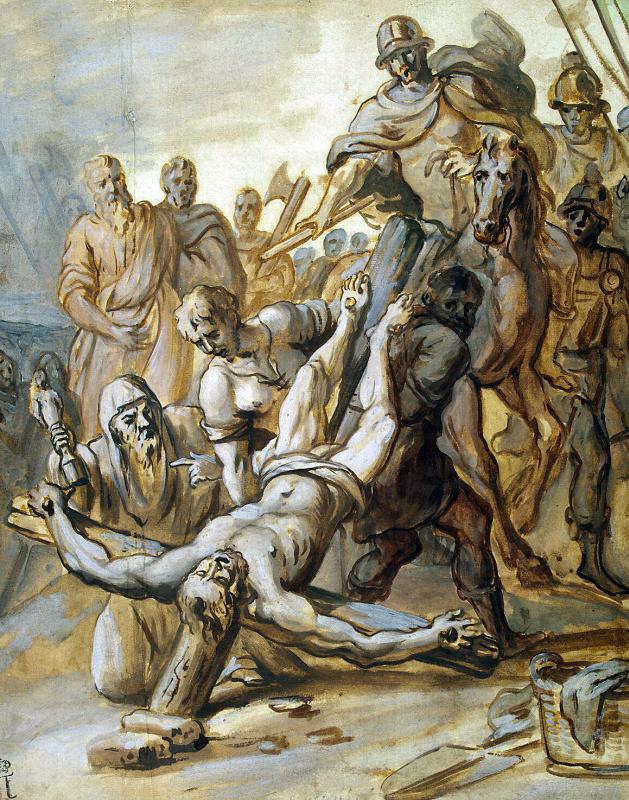 Каспар де Крайер. Мученичество апостола Петра