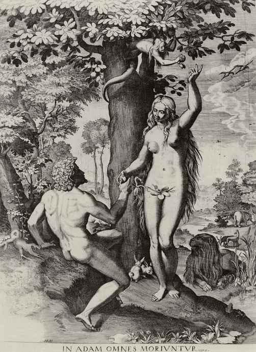 Аннибале Карраччи. Адам и Ева