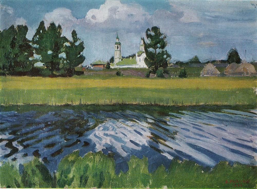 Arkady Alexandrovich Rylov. The Village Of Makar'yevka
