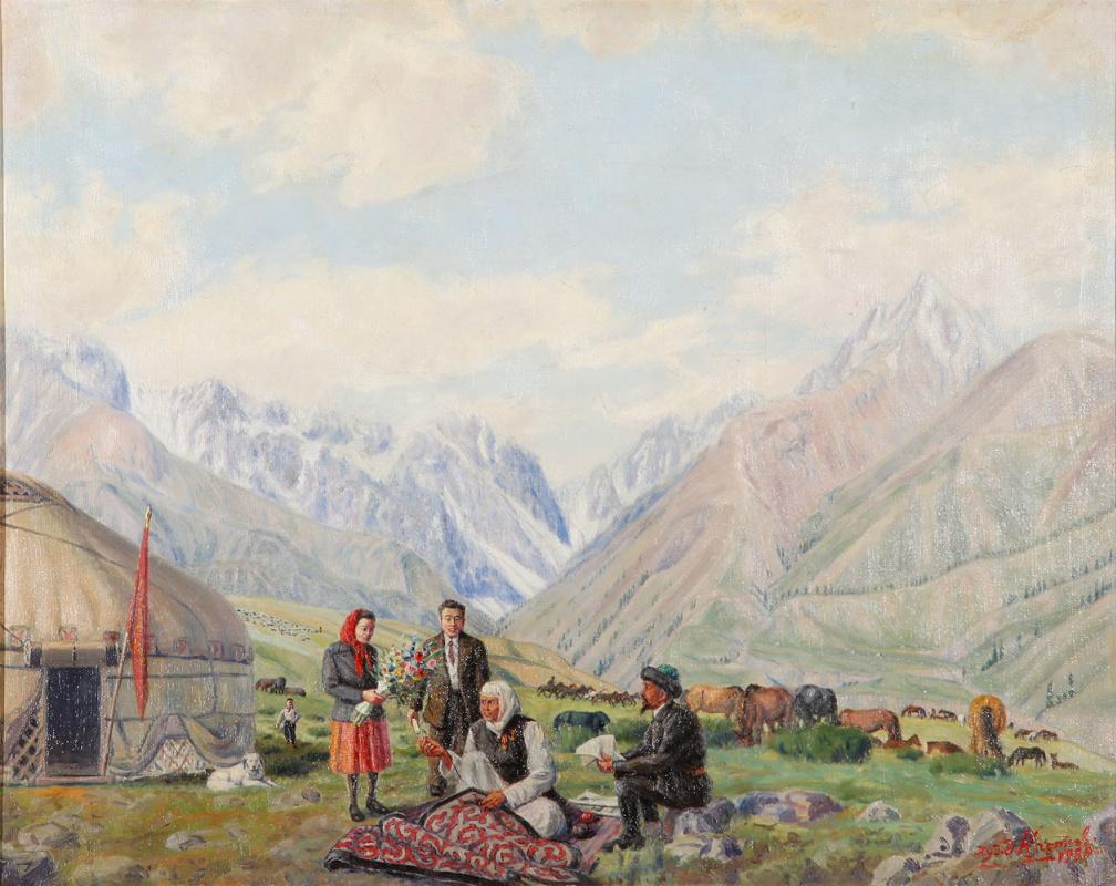 Abylkhan Kasteevich Kasteev. Kovrovshchitsy on Jailau