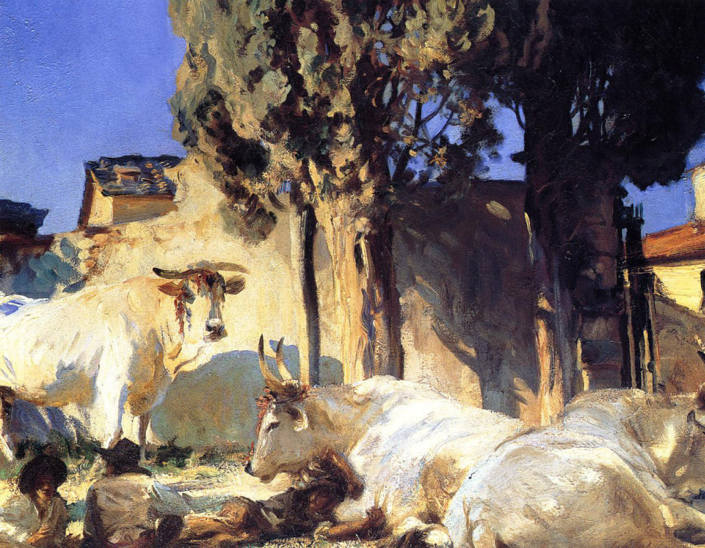 John Singer Sargent. The rest of the oxen