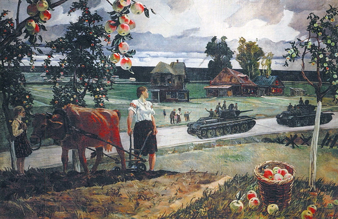 Александр Александрович Дейнека. Едут на войну