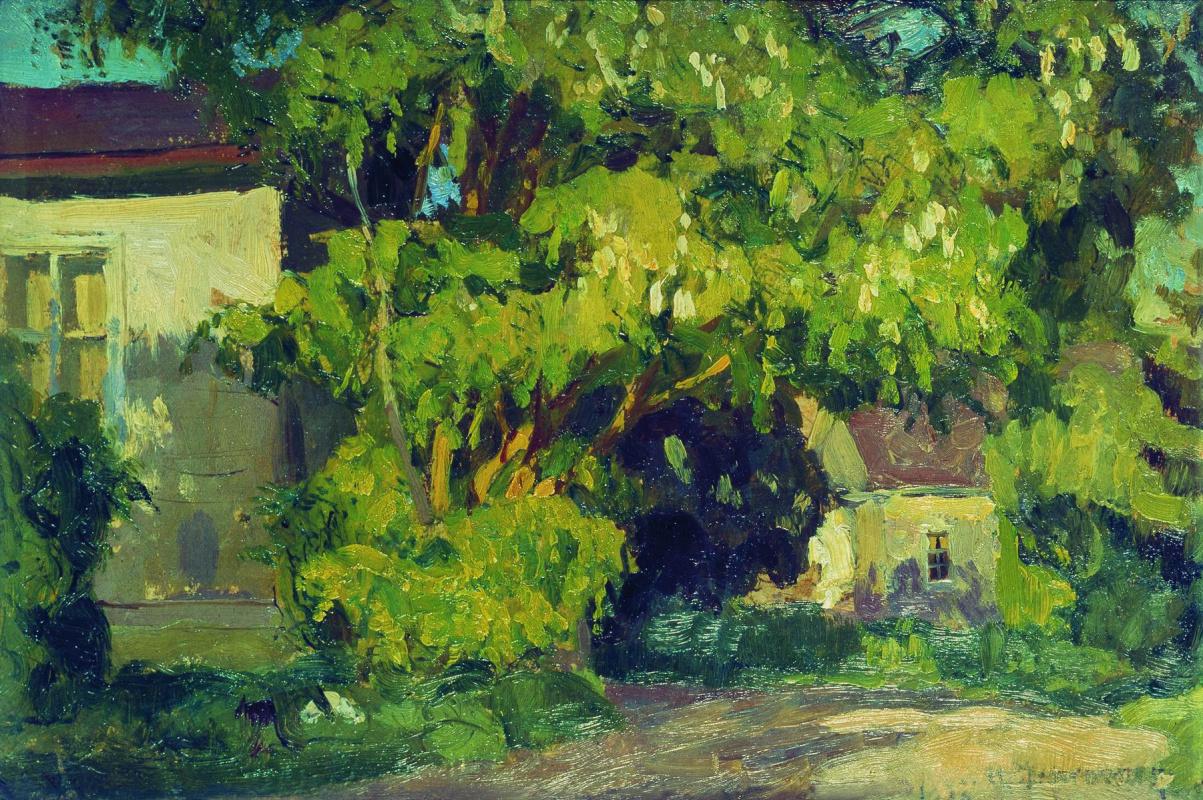 Stanislav Yulianovich Zhukovsky. Cottage. Etude
