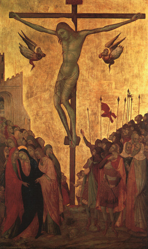 Амброджо Лоренцетти. Распятие Христа