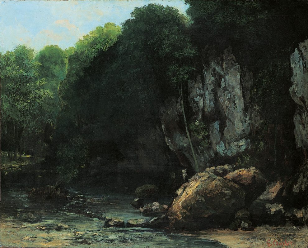 Gustave Courbet. Black well flow