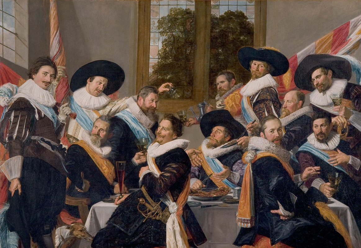 France Hals. Officers of the Haarlem Militia Company of Saint Adrian