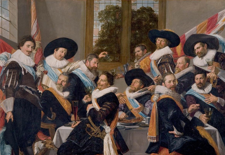 Frans Hals. Officers of the Haarlem Militia Company of Saint Adrian
