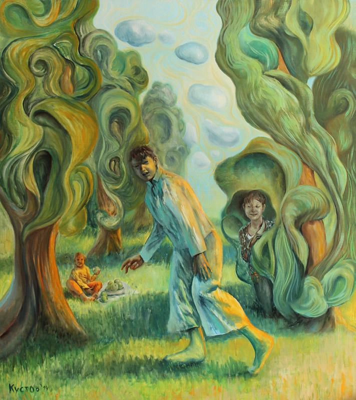 Evgeny Andreevich Kustov. The maze in the poplars.