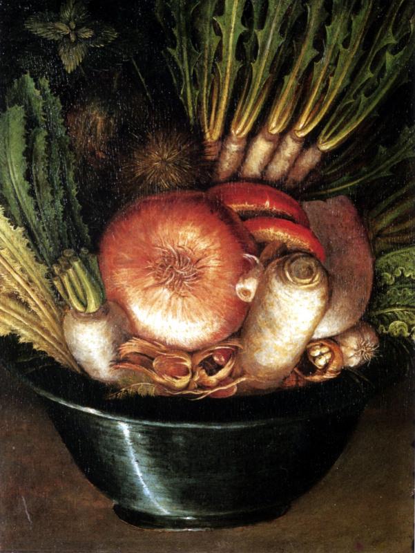 Джузеппе Арчимбольдо. Натюрморт с луком и овощами (Садовник)