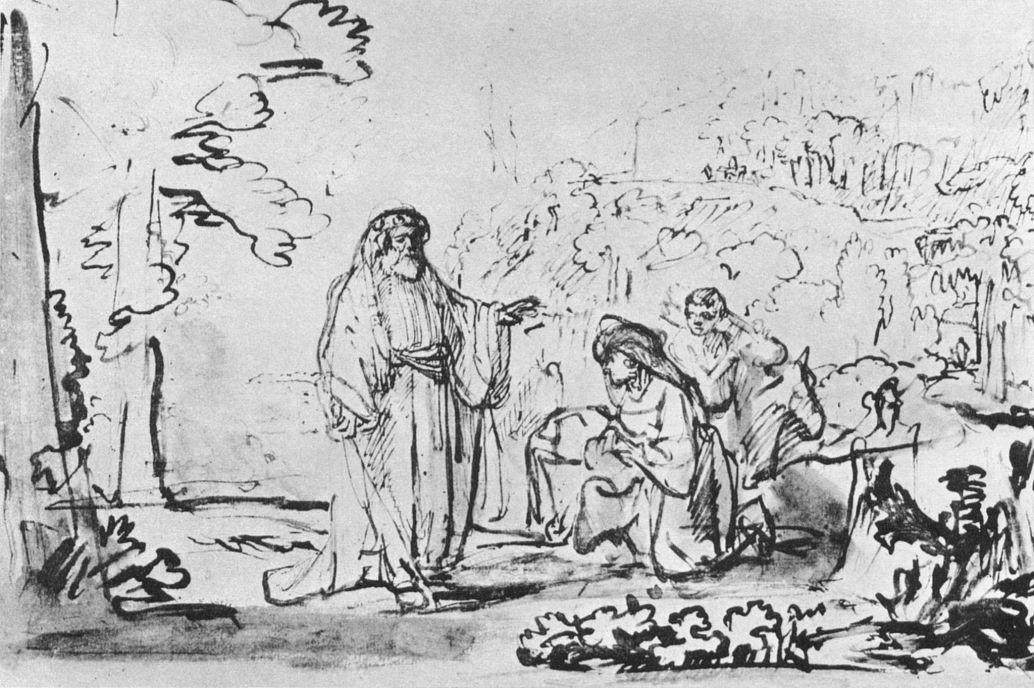 Рембрандт Харменс ван Рейн. Илия и вдова из Сарепты