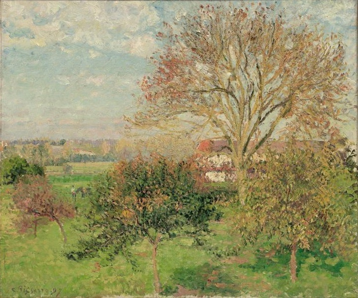 Camille Pissarro. Autumn morning at Eragny